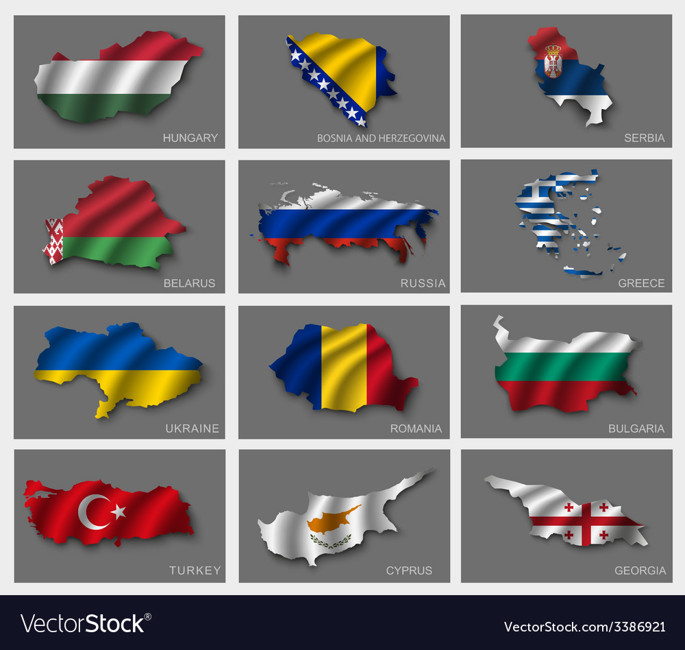 Flags in the form of states