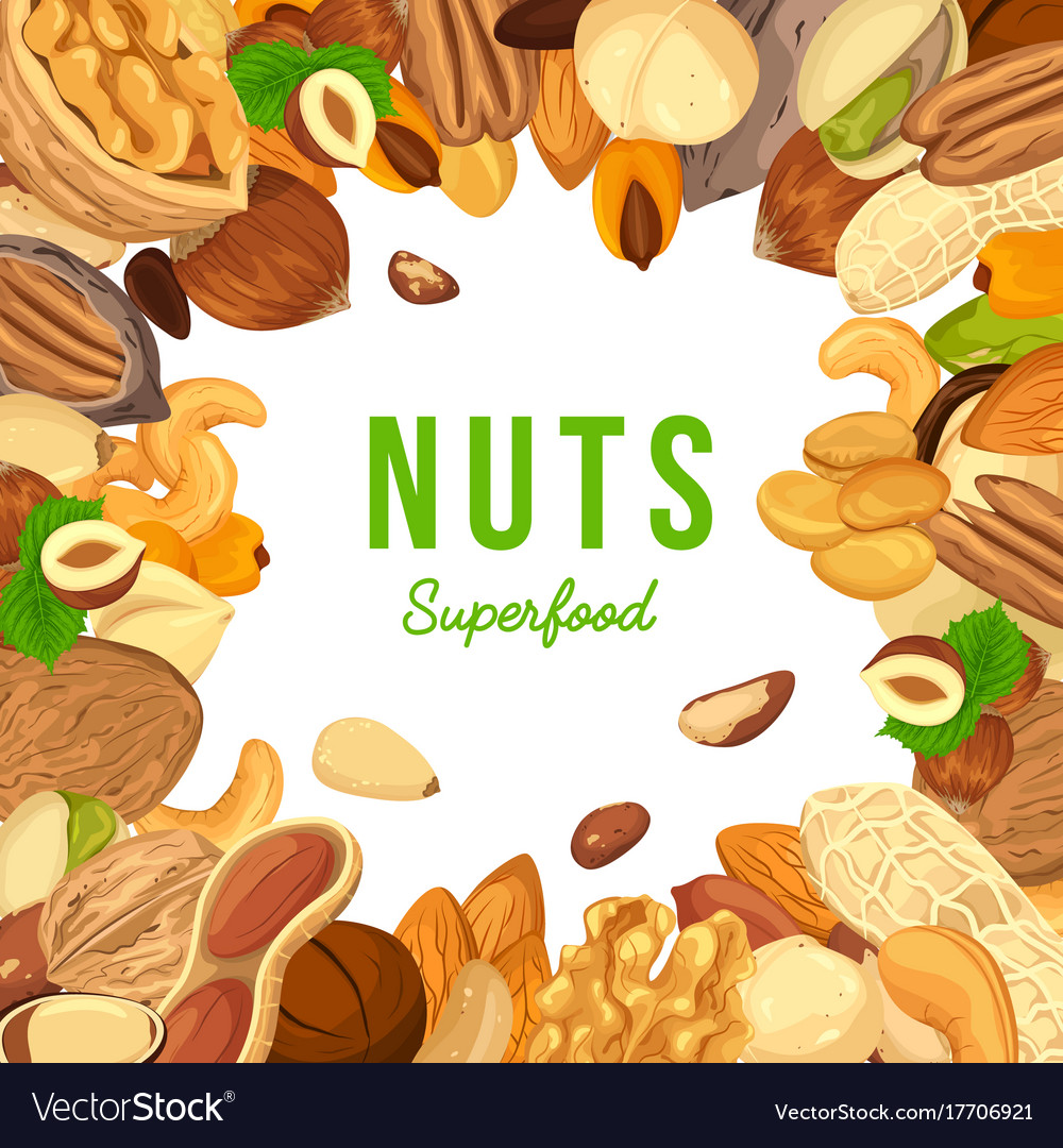 Kernels of nuts for badge or banner