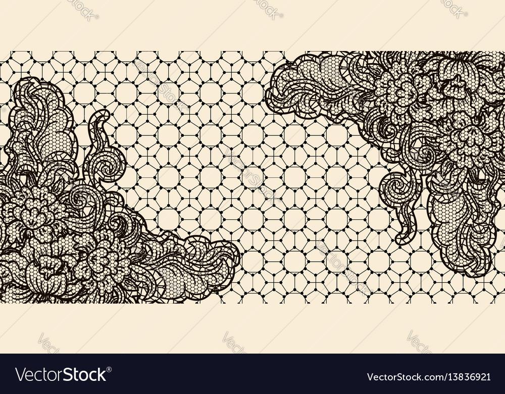 Lace card horizontal sample invitation template vector image stopboris Gallery