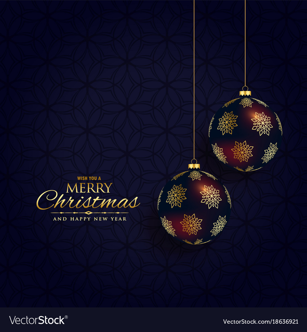 Dark Christmas.Luxury Dark Christmas Festival Background Design