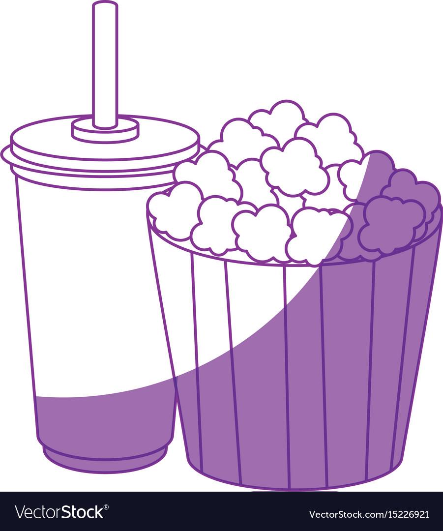 Pop corn bucket icon