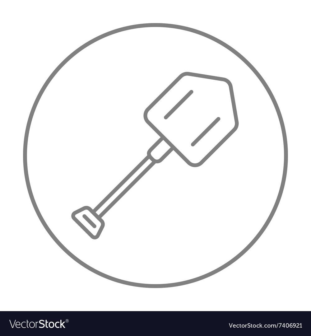 Shovel line icon