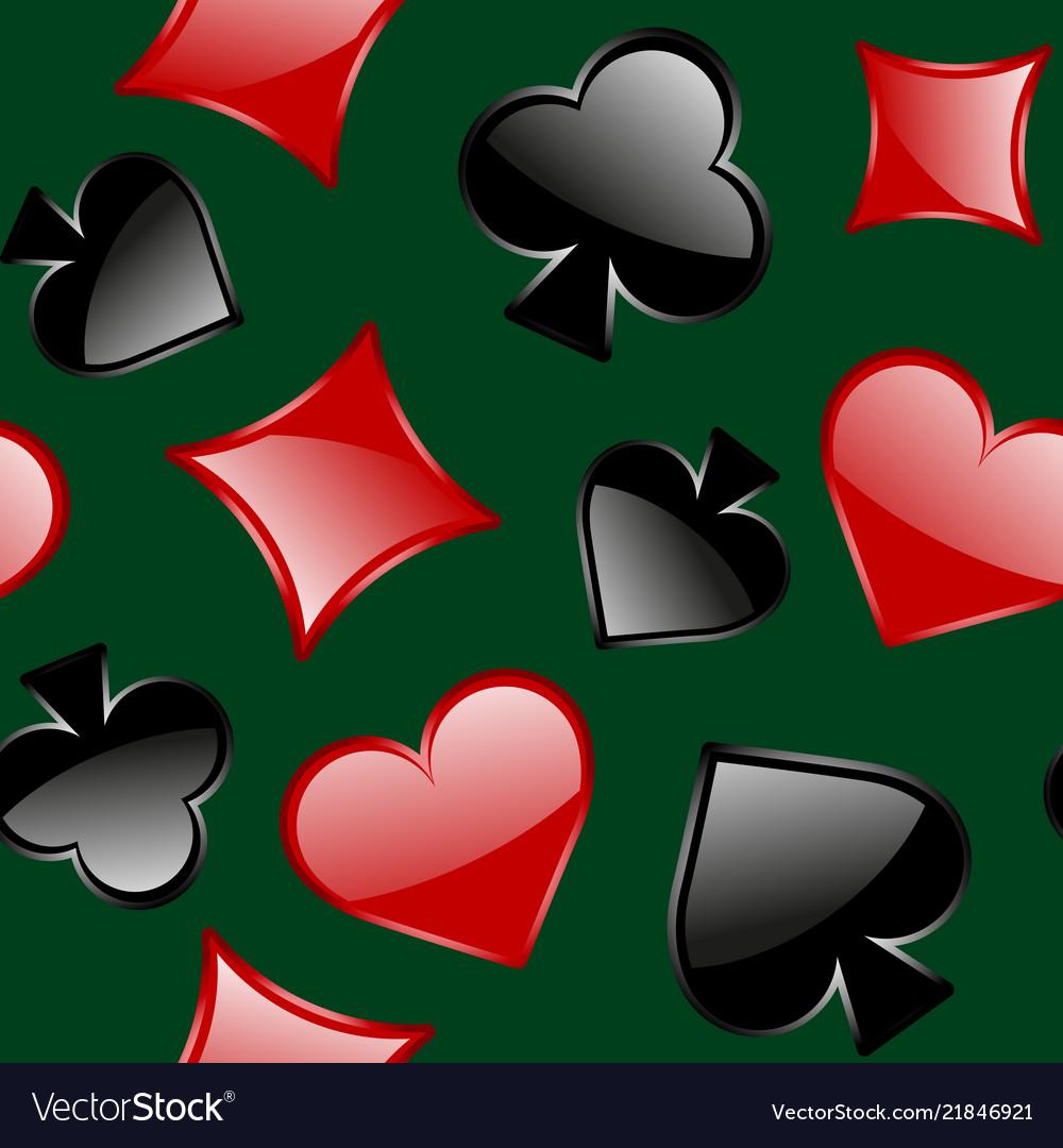 Simbols of playing card seamless pattern