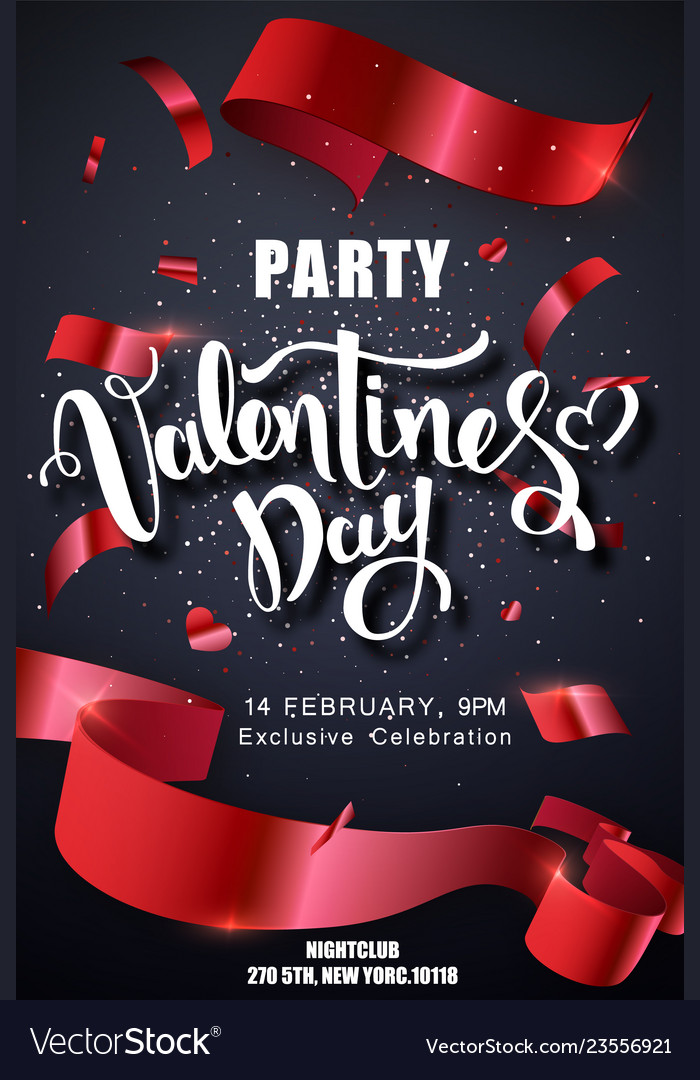 Valentines day party design template