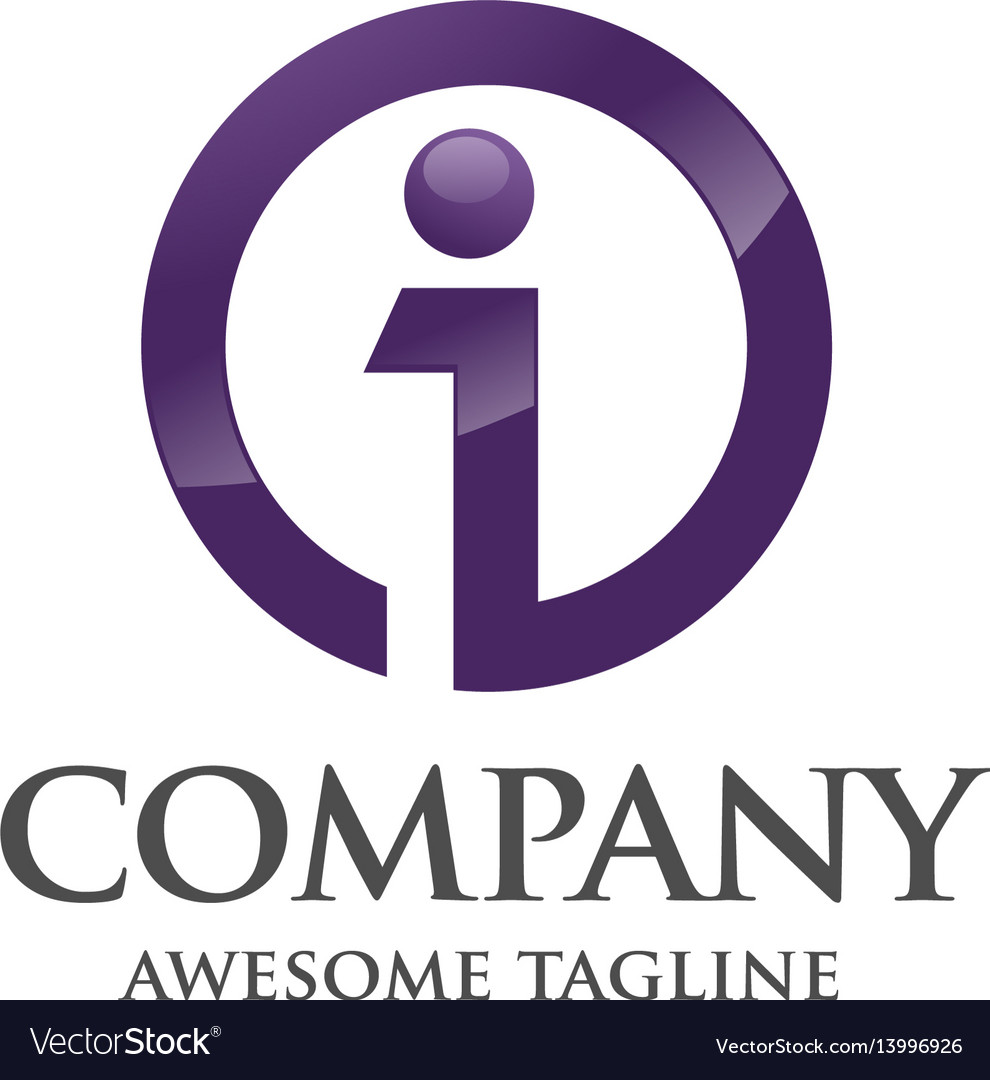 Best business corporate letter i logo