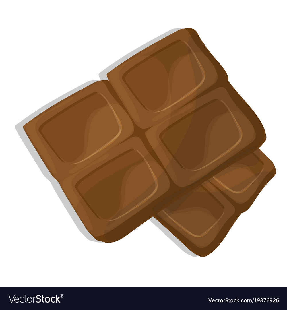 Chocolate pieces cartoon