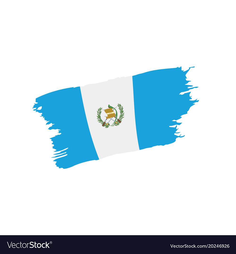 Guatemala Flag Royalty Free Vector Image Vectorstock