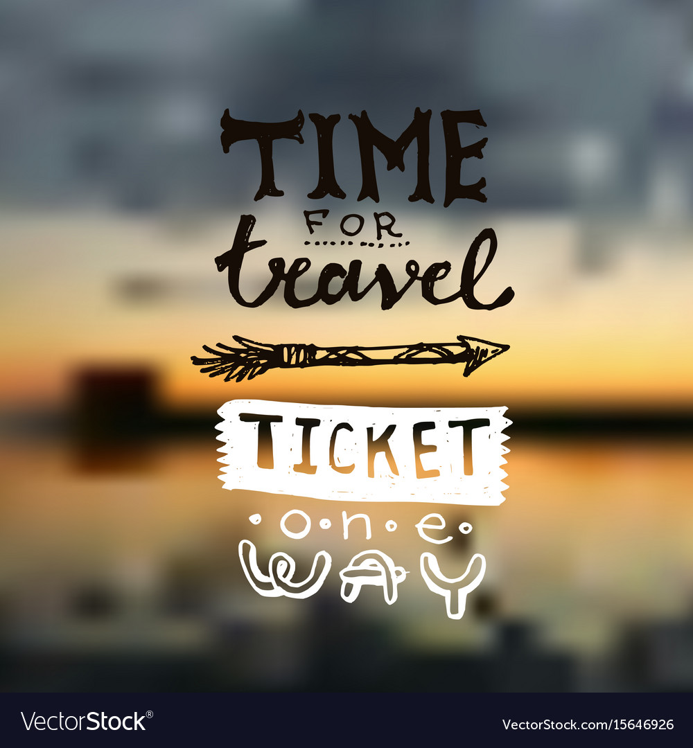 Hand drawn lettering travel
