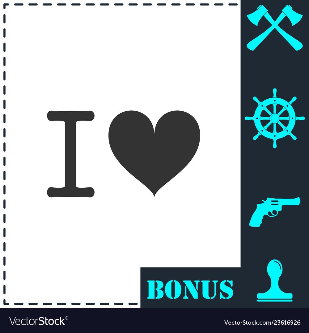 I love icon flat