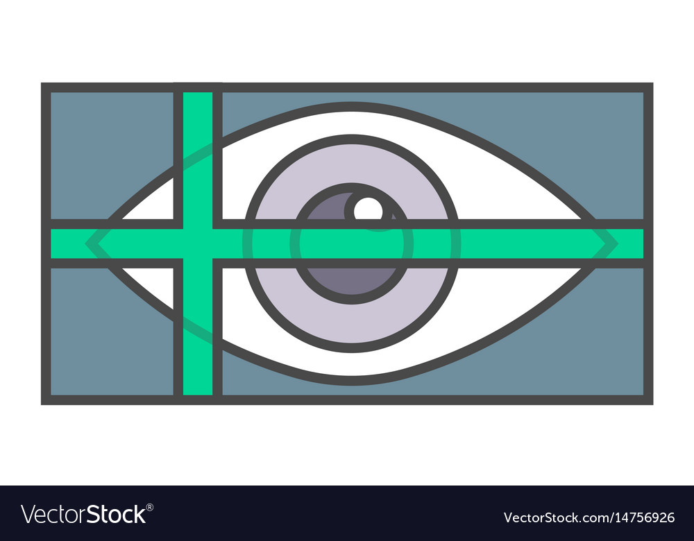 Retina scan system pictogram