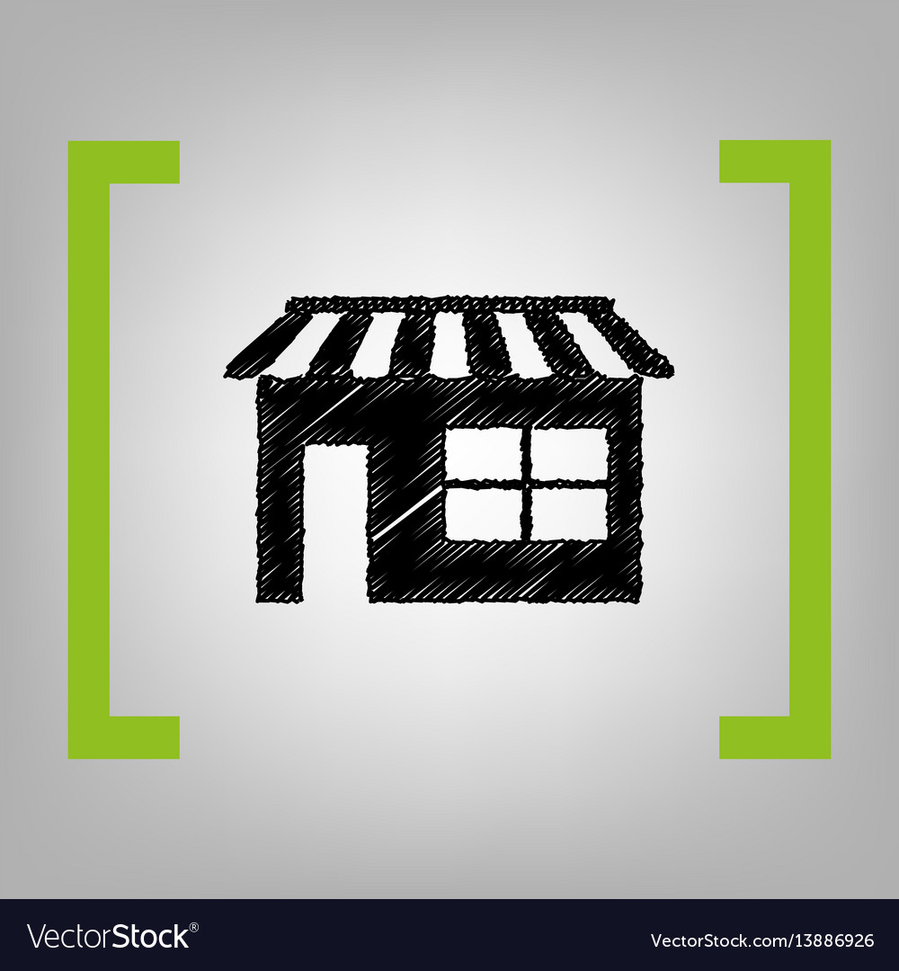 Store sign black scribble