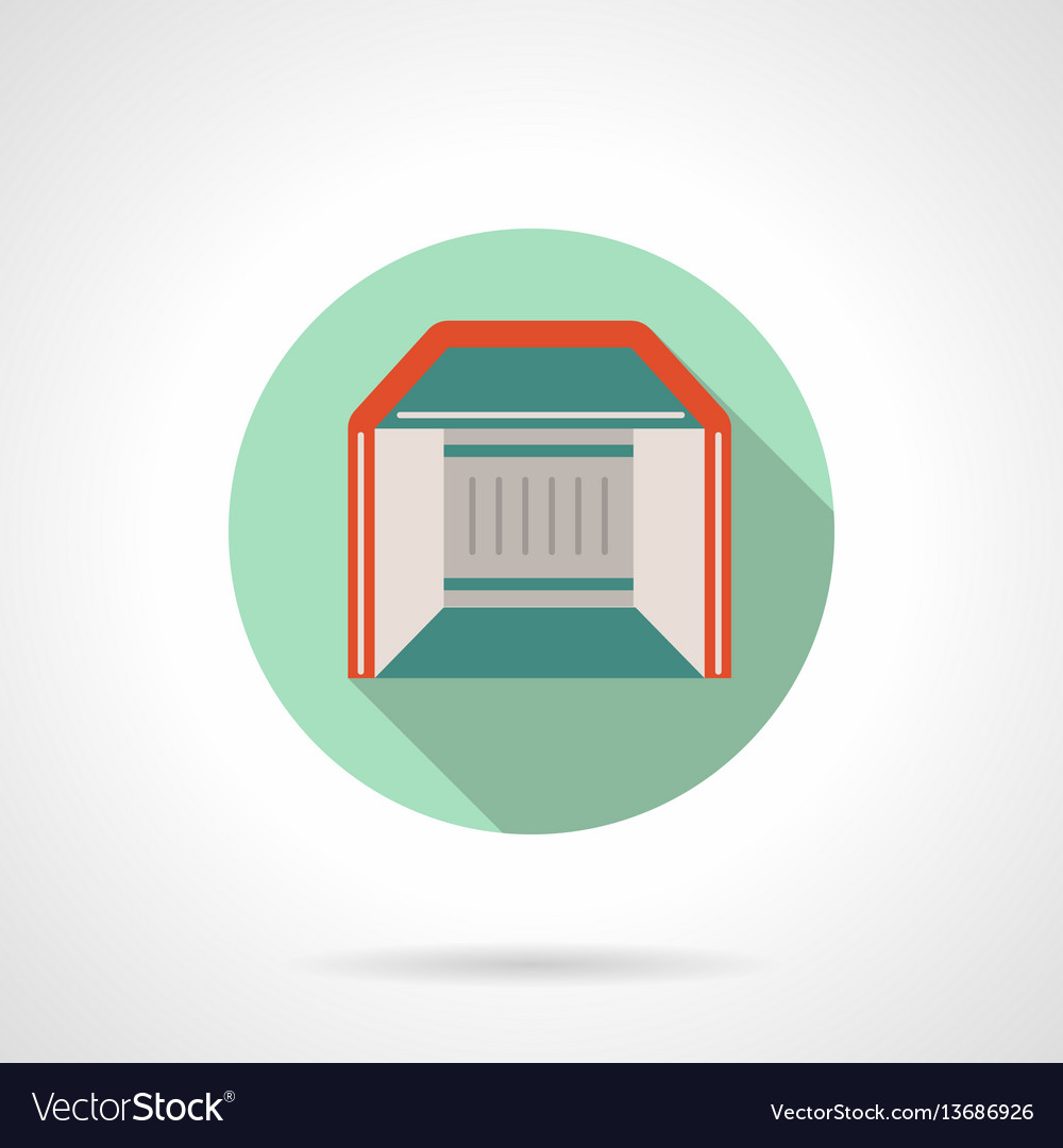 Trade show booth flat round icon vector image