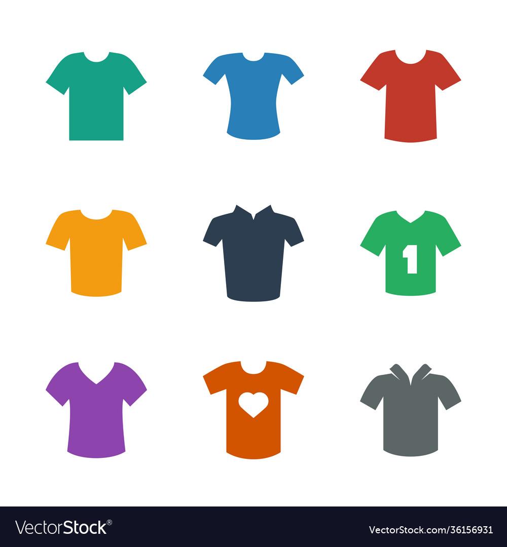 9 tshirt icons