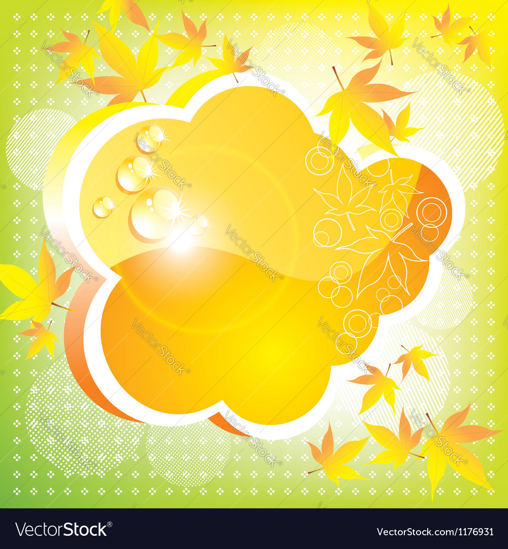 A bright card vector image