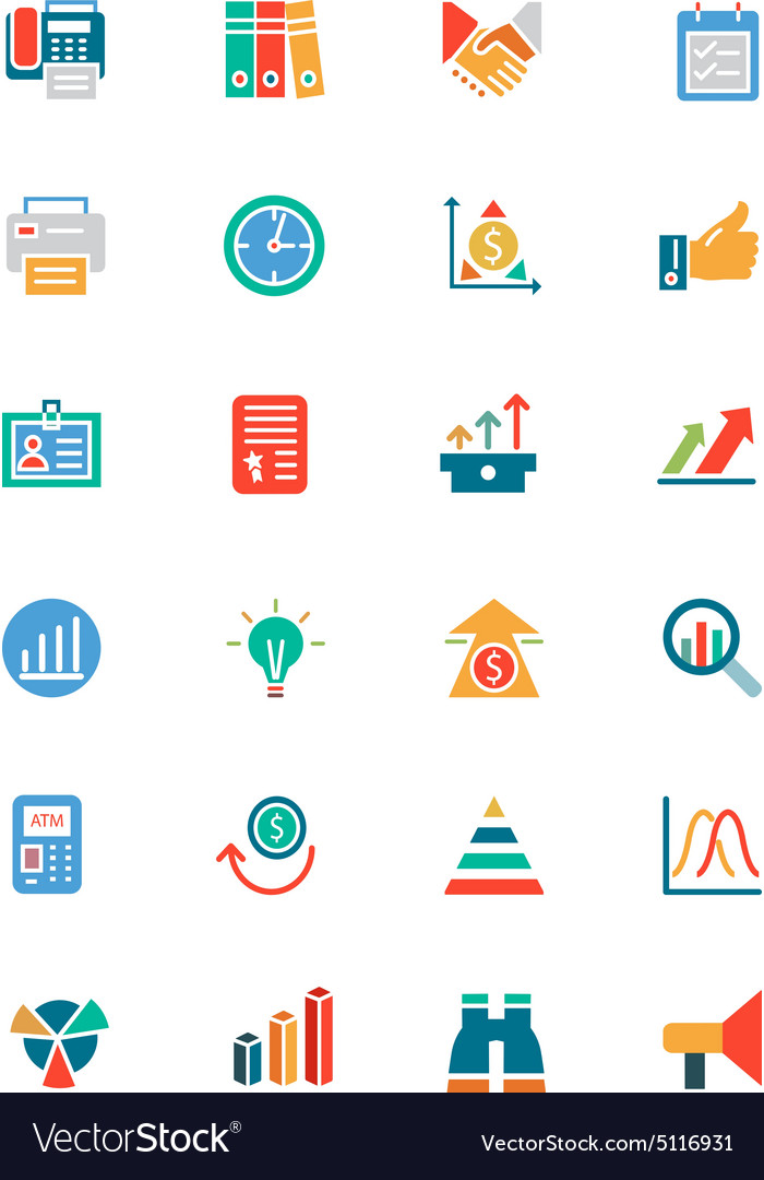 Banking and Finance Colored Icons 4