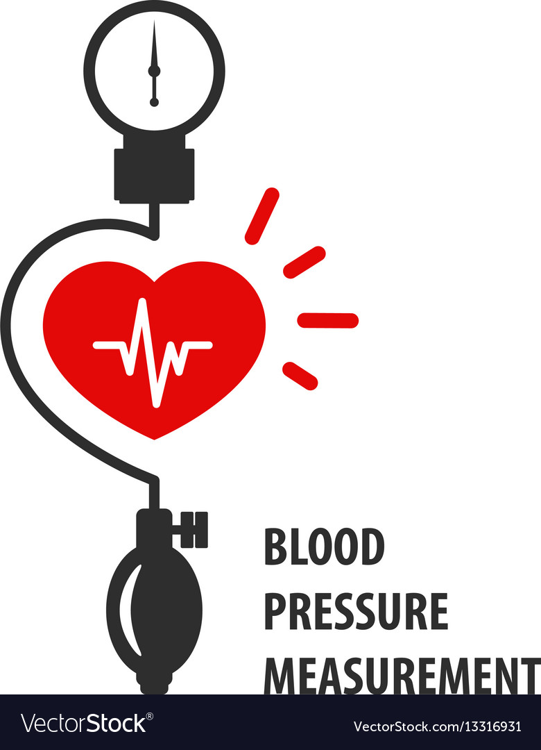 Blood pressure measurement icon - heart and sphygm