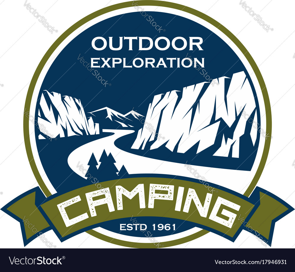 Camping sport exploration mountain icon