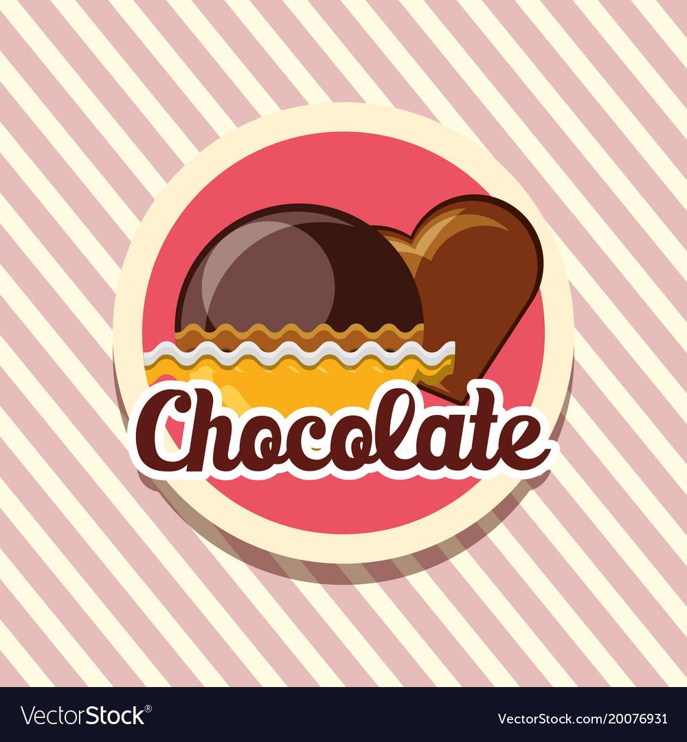 Chocolate candies design
