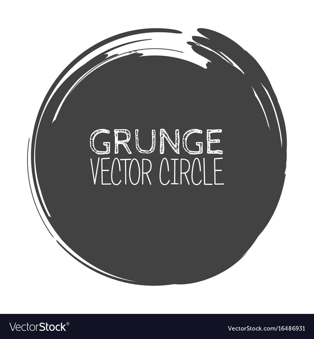 Grunge circle element for your design rubber