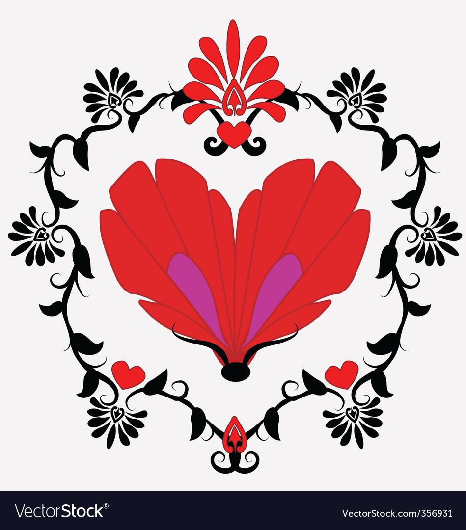 Heart Shaped Butterfly