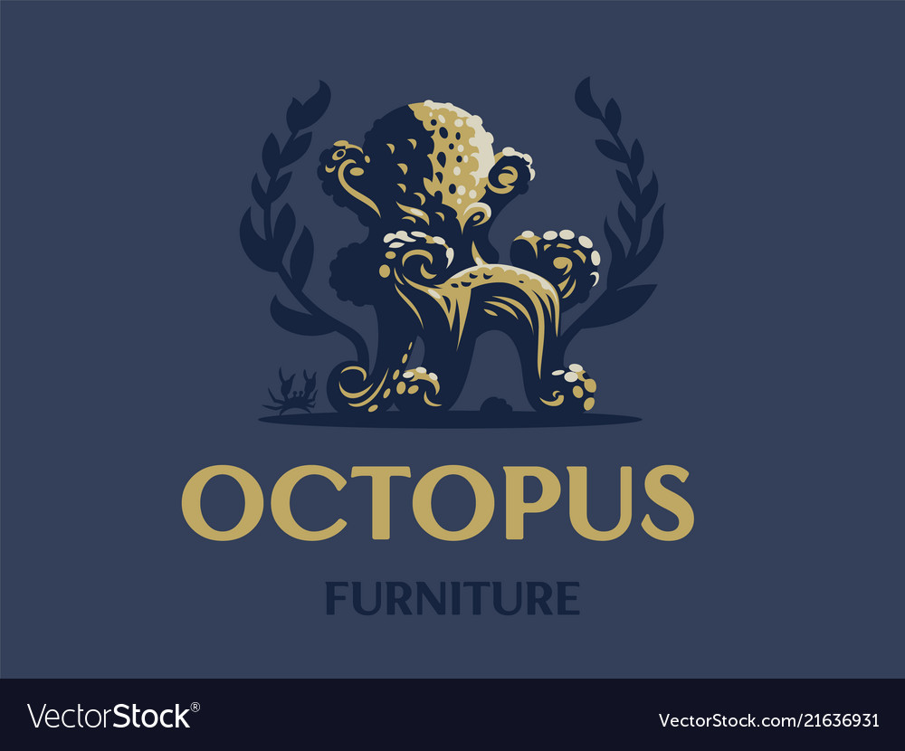 Octopus in the form of a chair