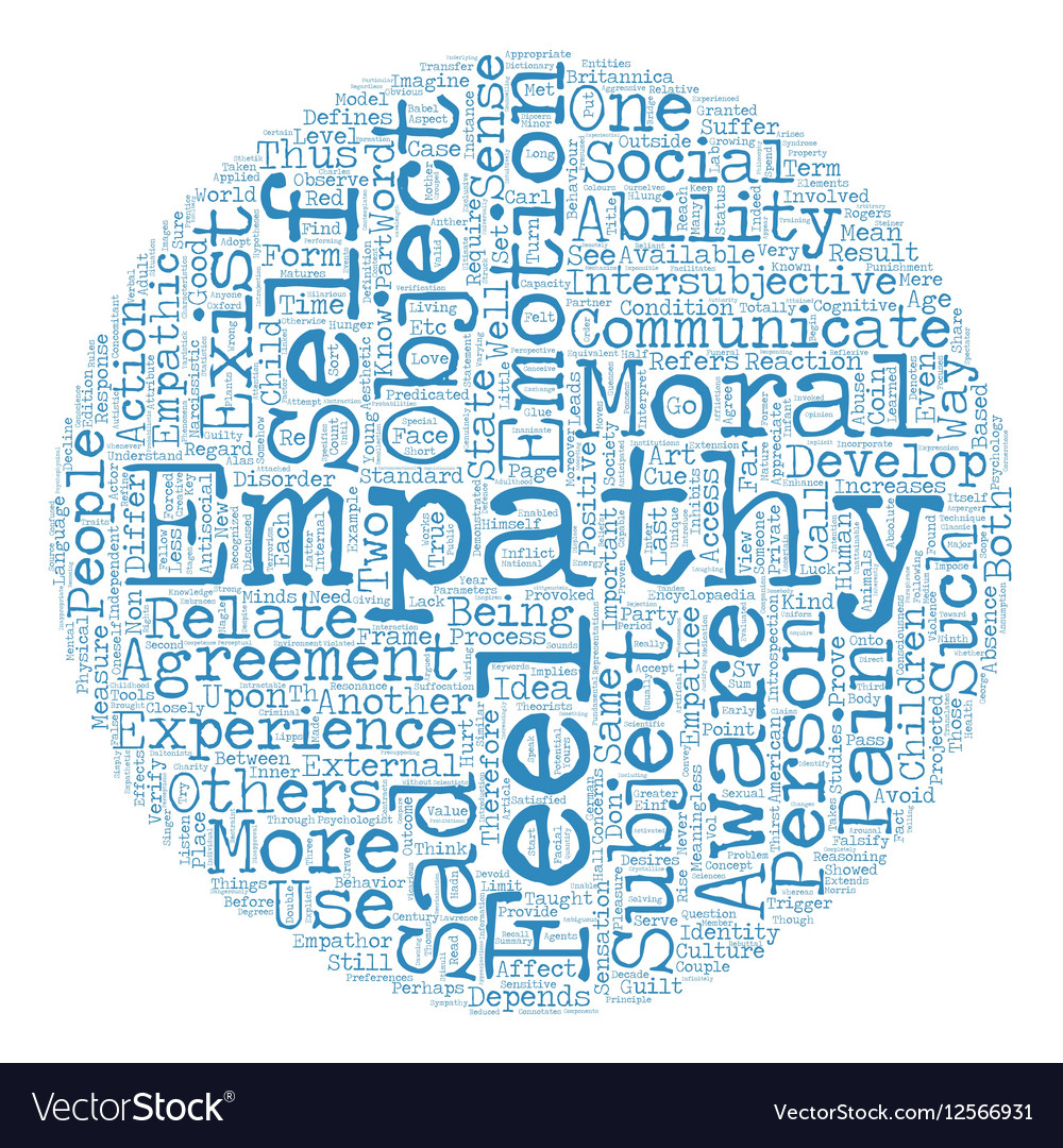 On Empathy text background wordcloud concept
