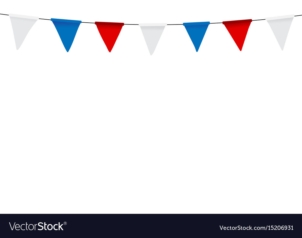 Russian flag festive bunting against party