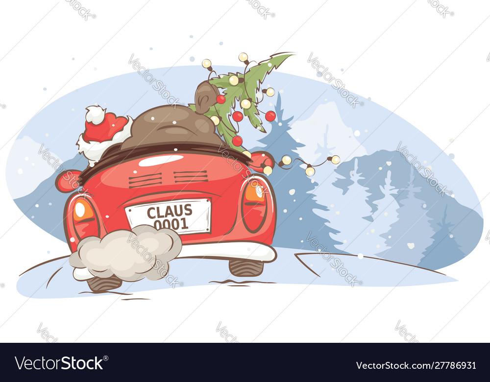 Santa hurries to bring gifts