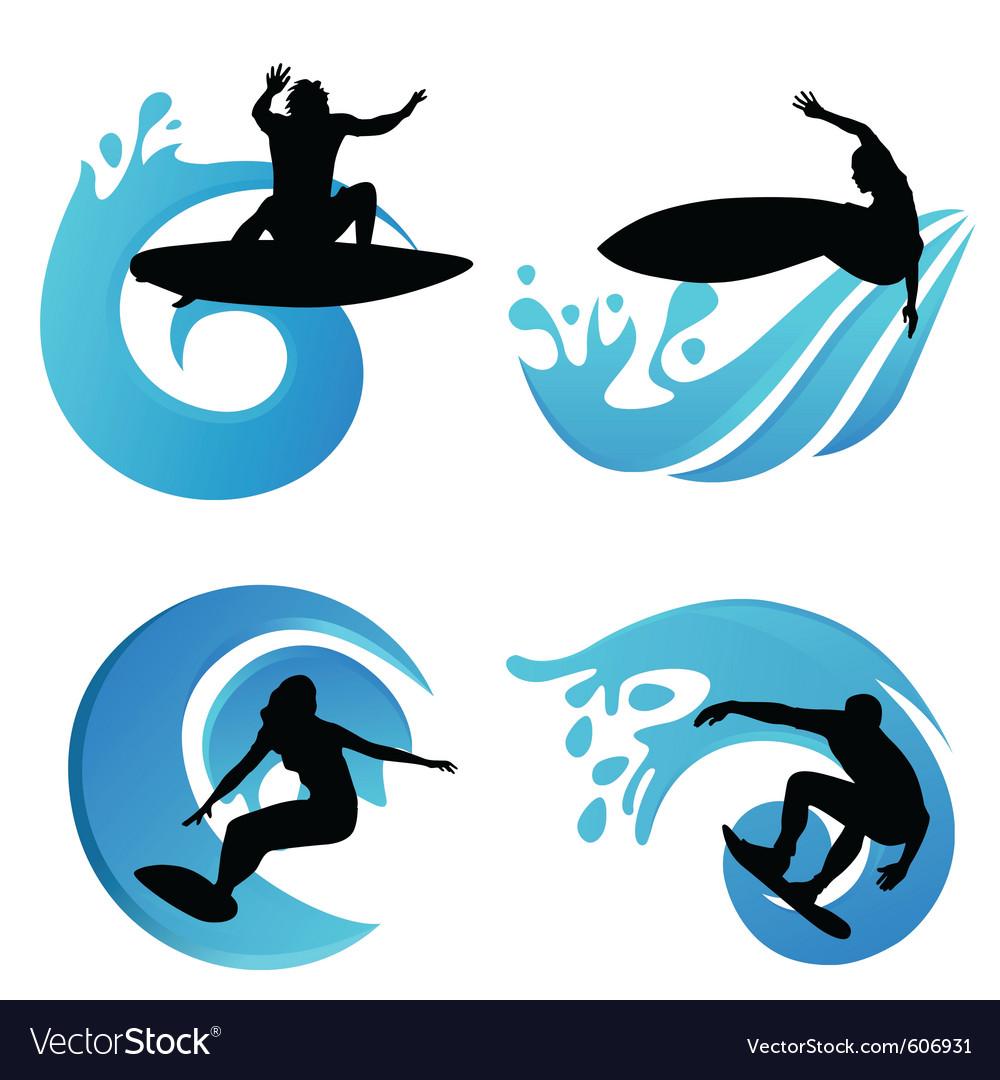 Surfing symbols