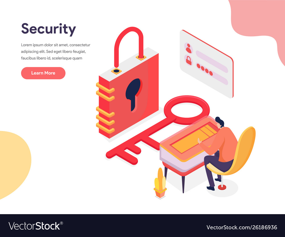Access and security concept isometric design