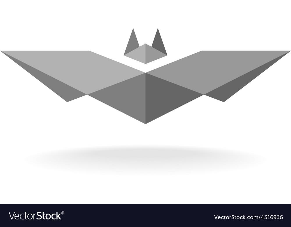 Bat geometric logo
