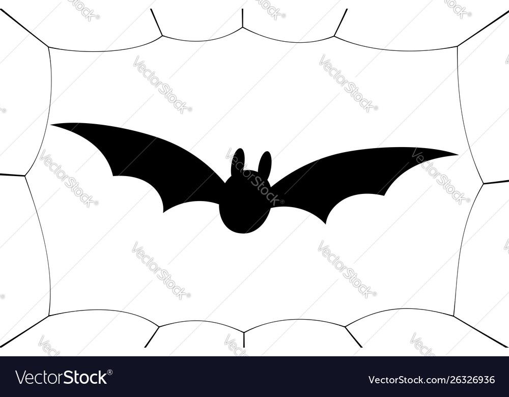 Bat icon wings black web silhouette