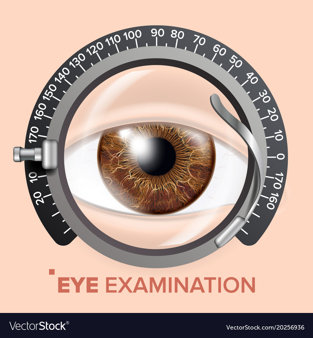Eye test banner clinic consultation