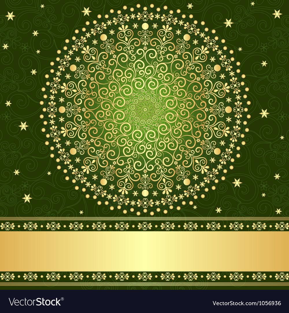 Filigree vintage frame vector image