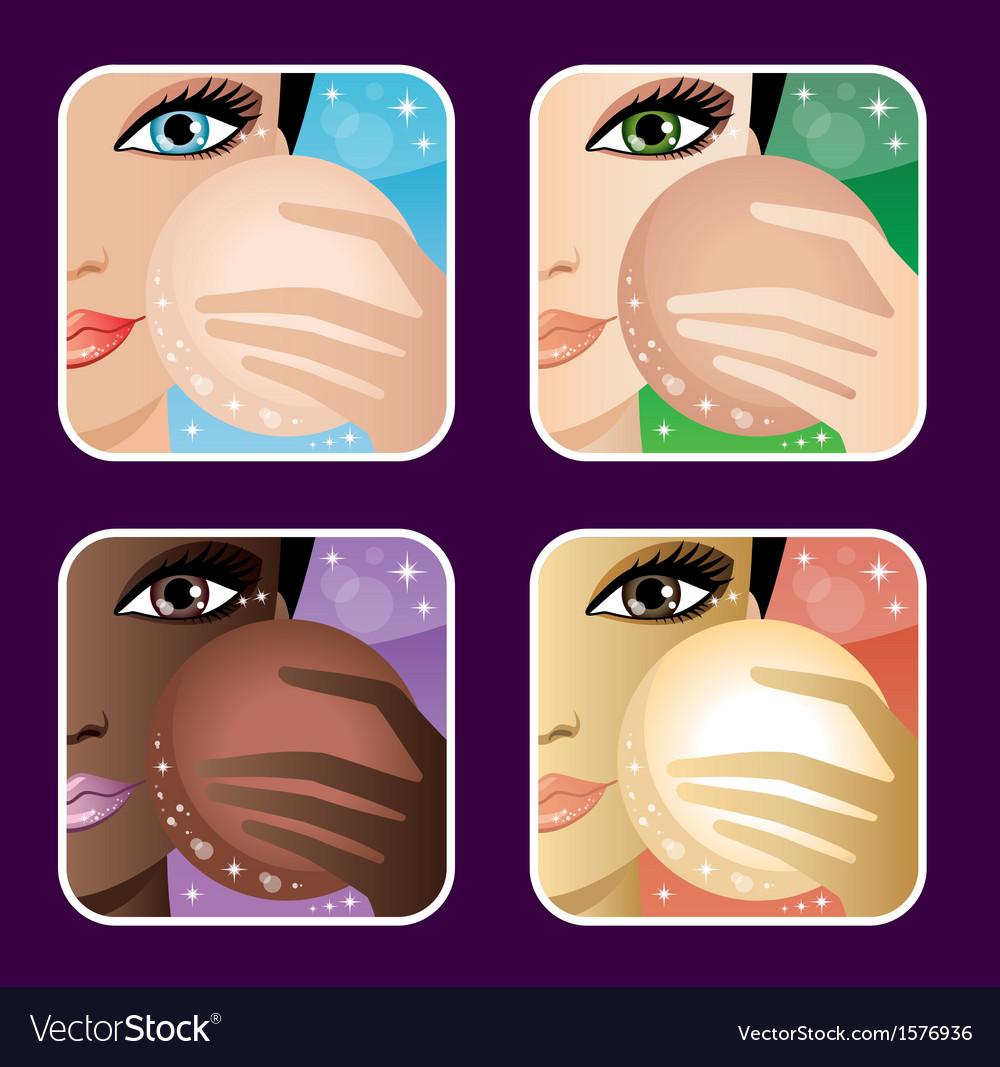 SSet of makeup young