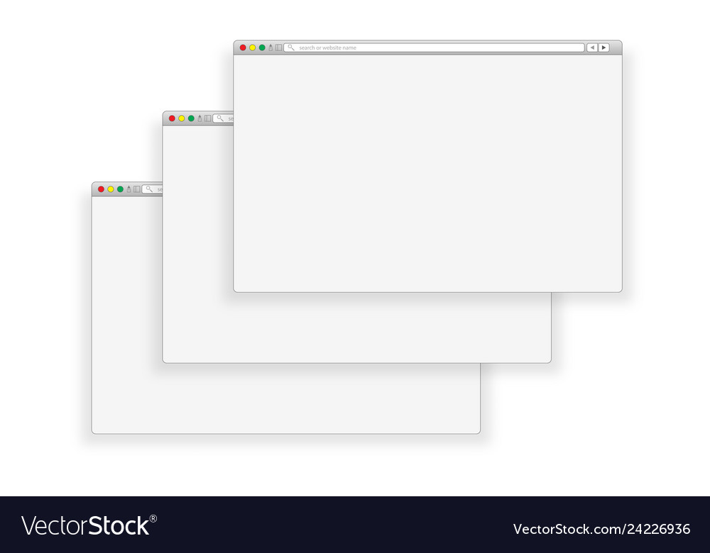 Window concept internet browser in flat style