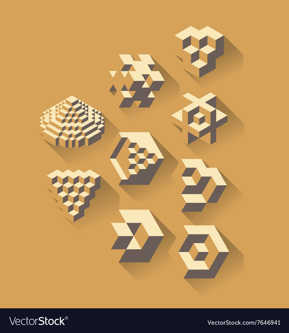 3d isometric symbols
