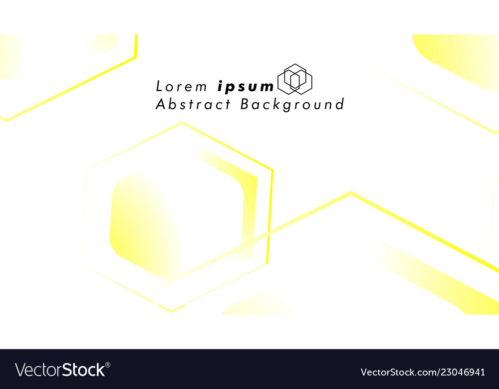 Abstract background concepts of hexagon shapes