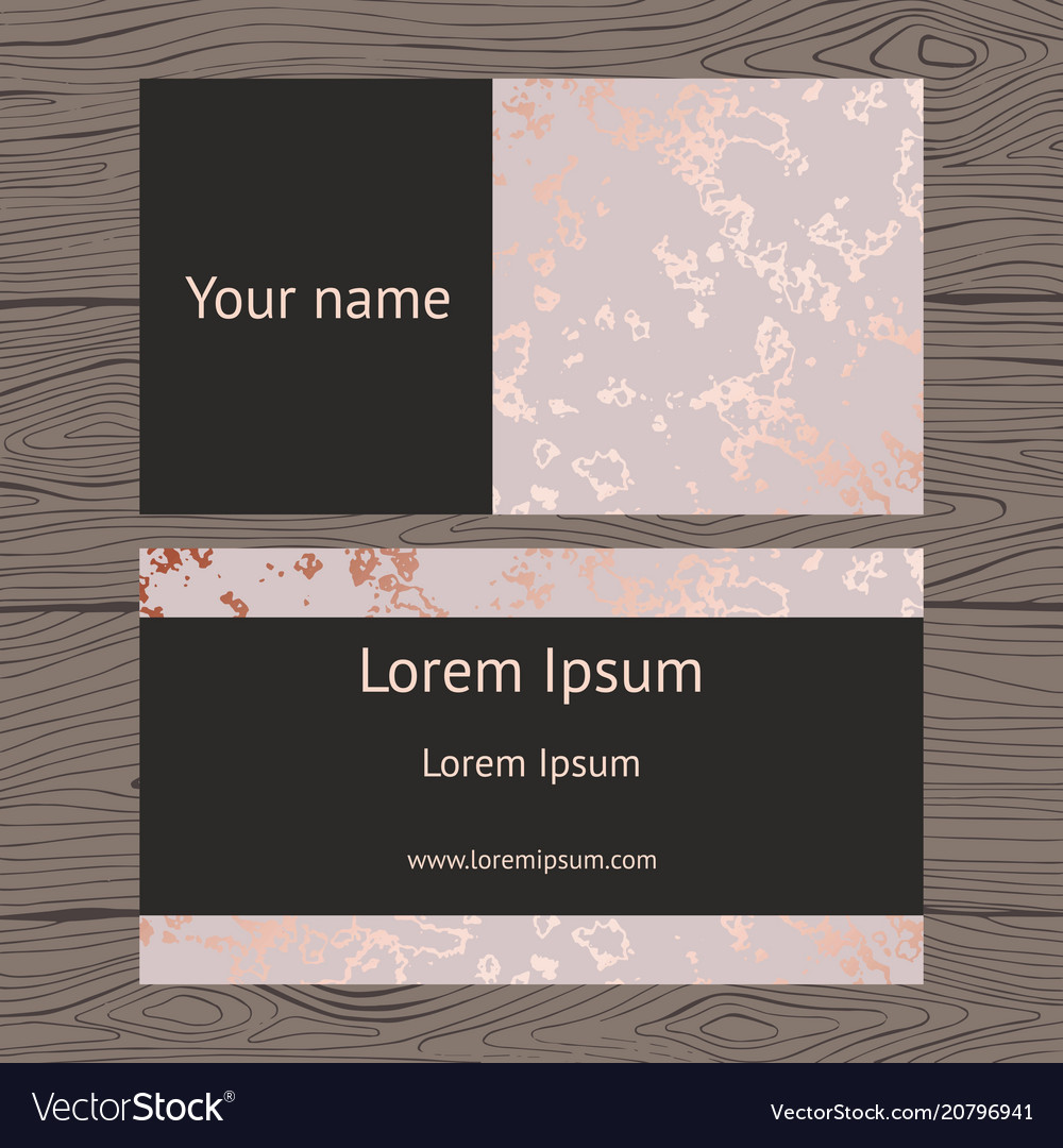 Business cards with imitation rose vector
