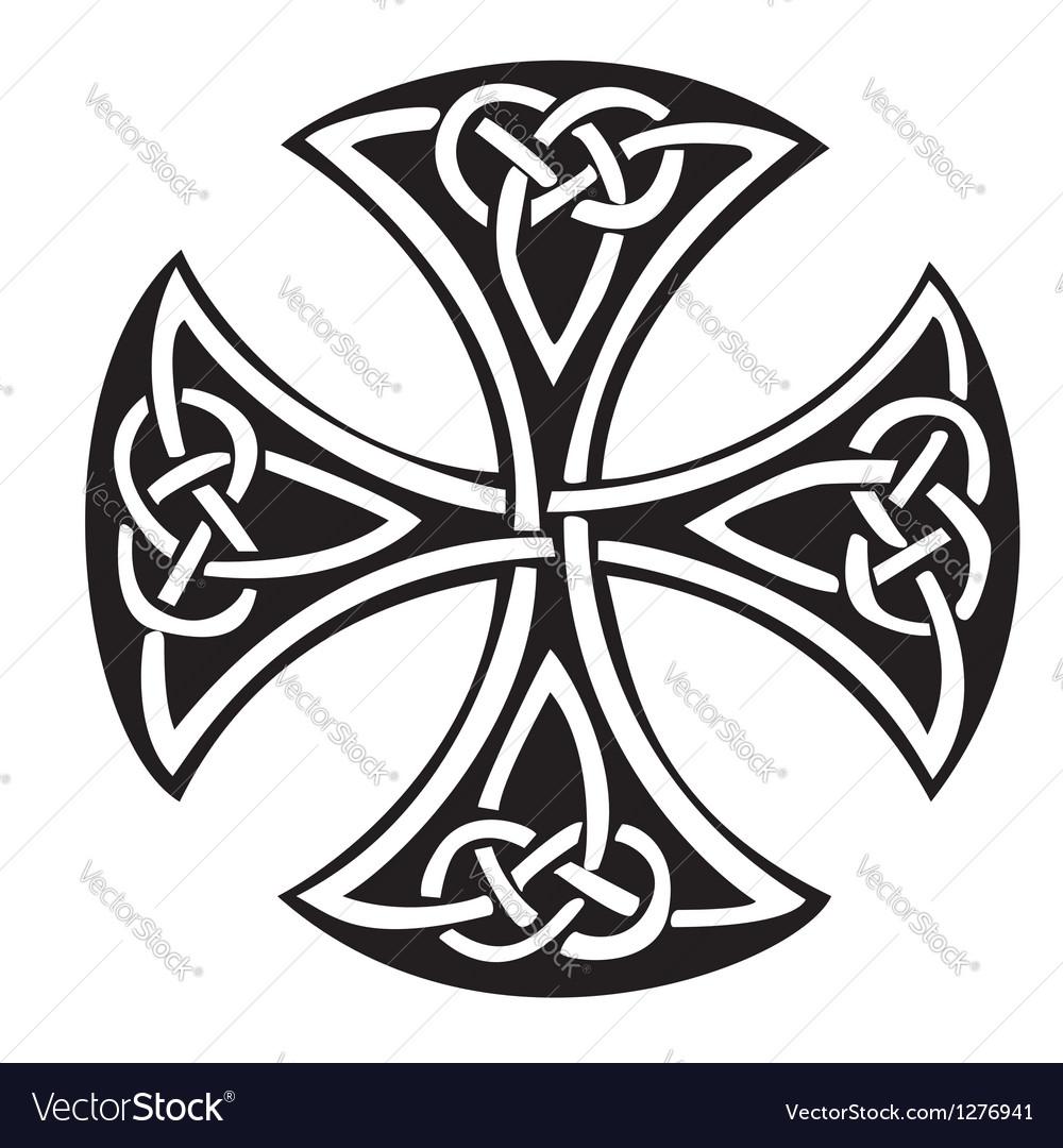 celtic cross royalty free vector image vectorstock rh vectorstock com celtic cross vector art celtic cross vector file