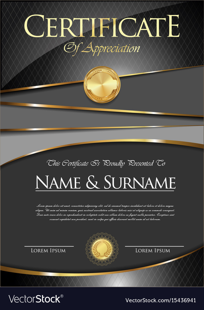 Certificate or diploma template vector image