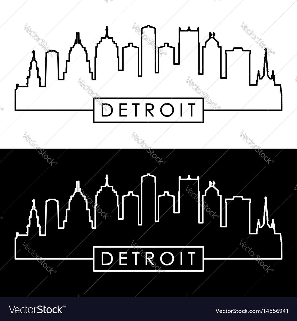 Detroit skyline linear style