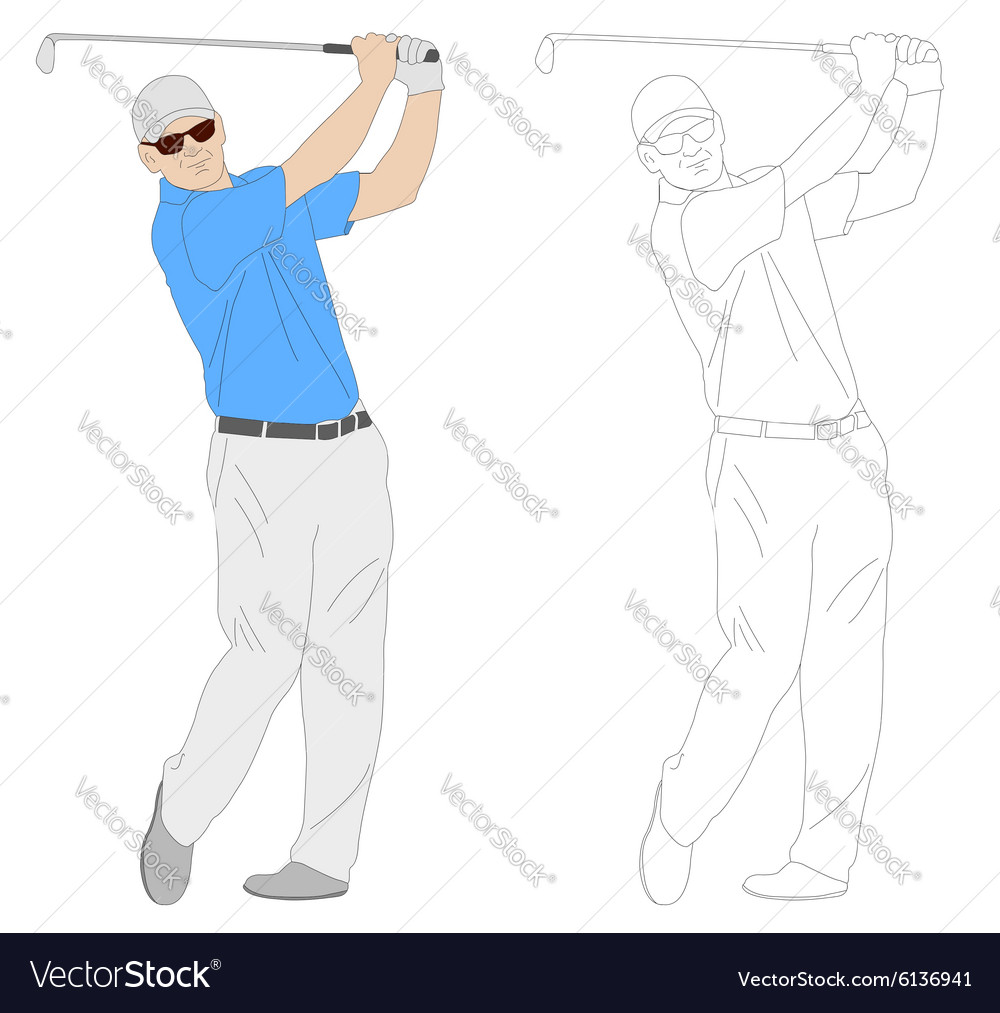 Golf player 1 vector image