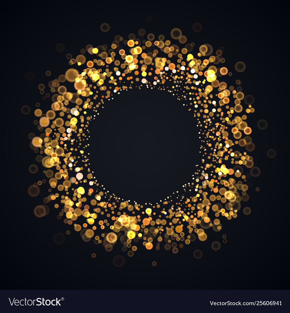 Isolated blurred abstract round frame on dark