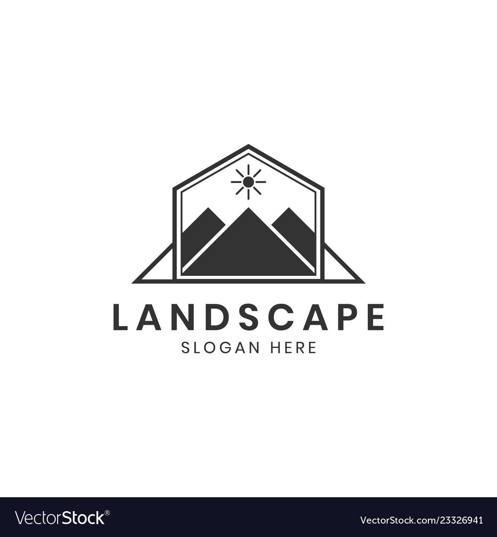 Landscape Mountain Or Hill Logo Design Inspiration