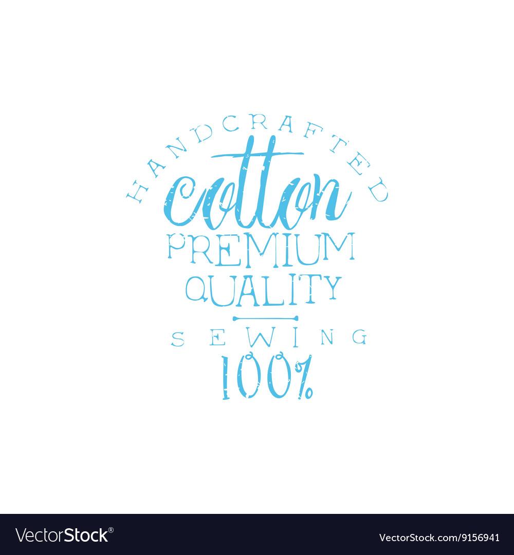 Quality Cotton Vintage Emblem vector image