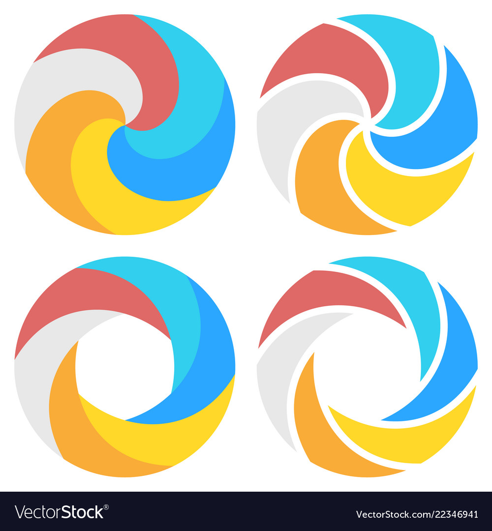 Set of spiral elements template