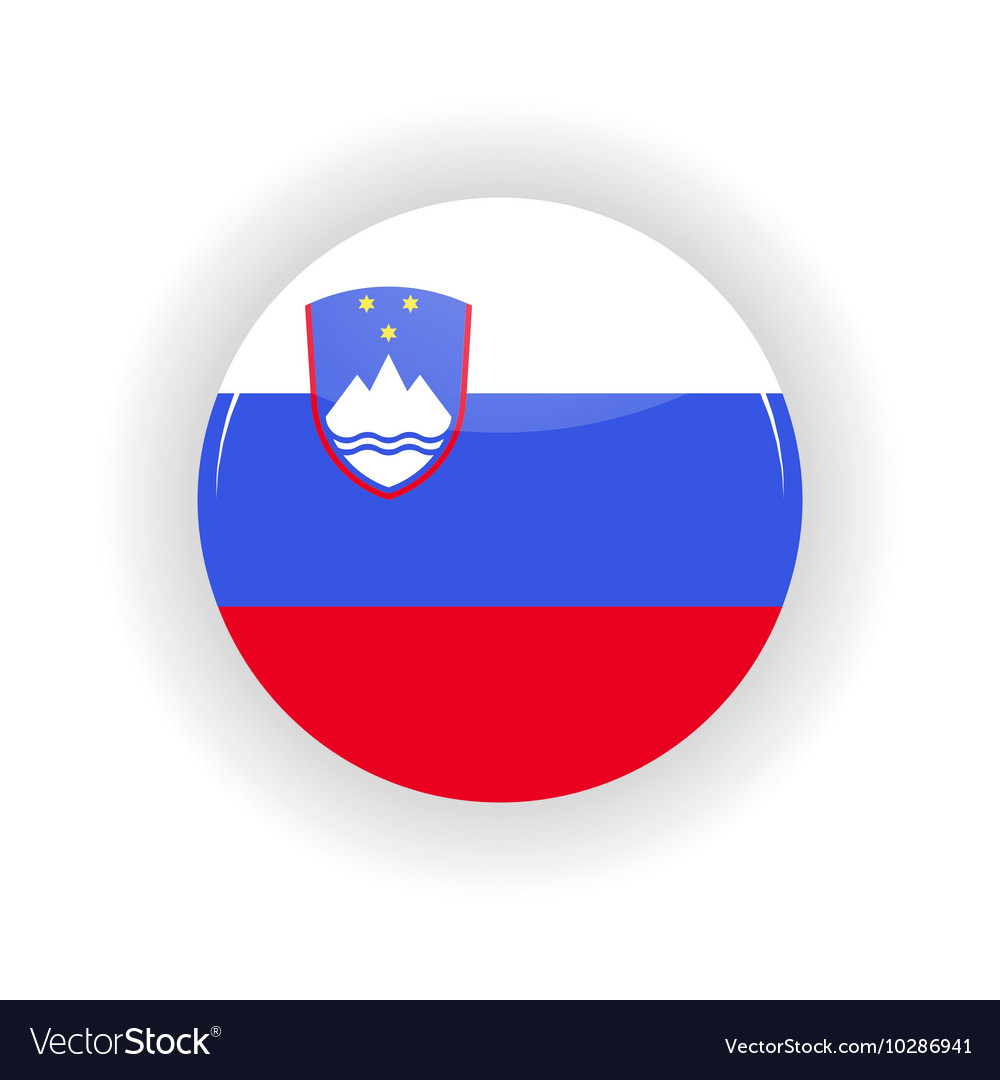Slovenia Icon Circle Royalty Free Vector Image