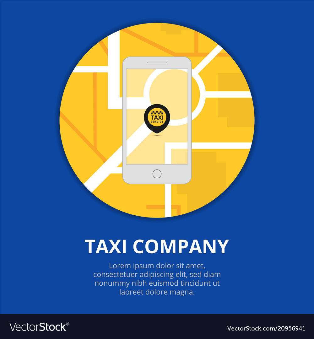 Taxi mobile app concept smartphone with mobile