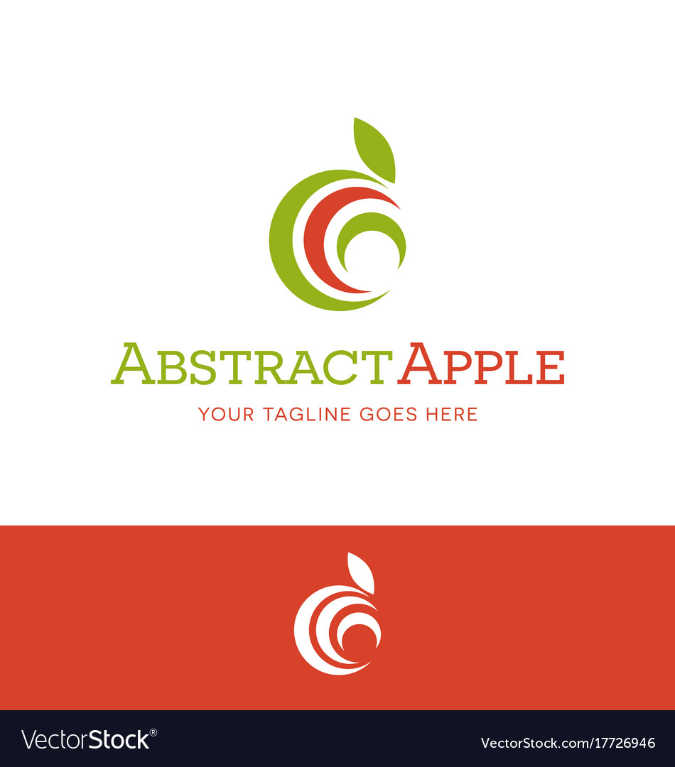 Abstract apple for food or nutrition logo